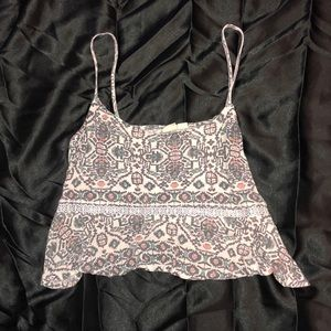 spaghetti strap loose crop top